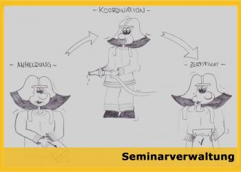 FireCircle_Software-Seminarverwaltung_Karikatur
