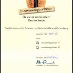 Innvoationsgutschein Ministerium Baden-Württemberg für Feuerwehren