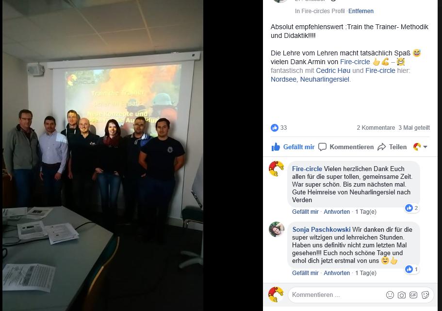 Feuerwehr Verden - Fortbildung effektive Ausbildung
